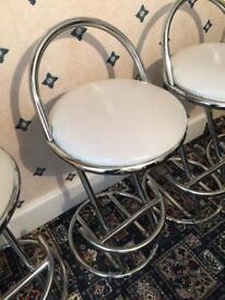 3 cream bar stools