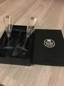 Thomas Webb champagne flutes