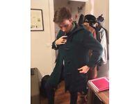 Burberry Dark Green Duffle Coat