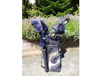 Golf Clubs - Complete set of right handed clubs with Golf Bag