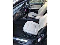 BMW 318i Black Exterior Cream Leather Interior with Rare Black Backs 2011
