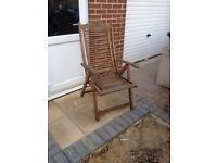 Large hardwood garden chair