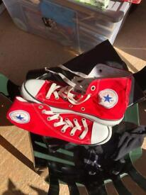 Red converses size 6.5
