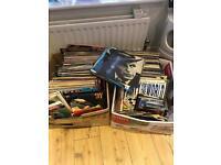 Big job lot of 250+ vinyl lps and singles. Bargain.