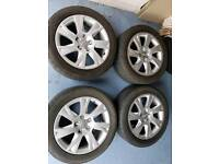 Genuine audi vw alloy wheels 17 inch pcdc5x112
