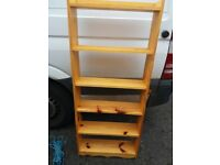 solid pine open bookcase