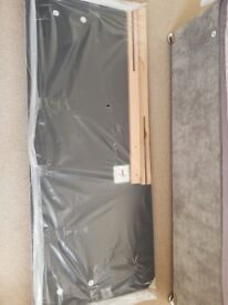 Grey king size headboard brand new still in packing