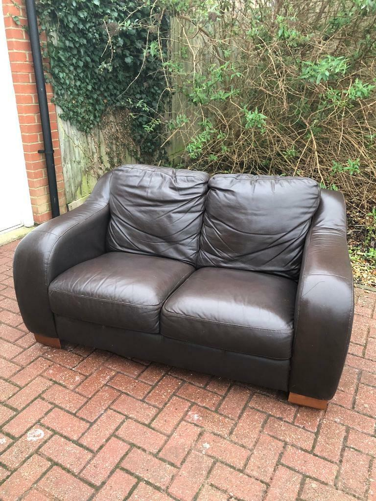 Leather sofa | in Portland, Dorset | Gumtree