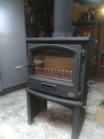 Tiger + Wood burning Stove. Completely refurbished.