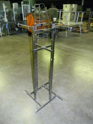 Commercial Retail Store Clothes Rack Adjustable Height and Arms