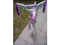 Girls pink scooter very good condition hardly used collection only upton