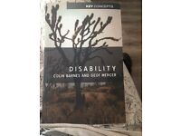 disability studies book - never used