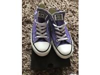 Womens Purple converse size 5