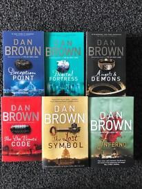 Dan Brown Books Including Robert Langdon Collection
