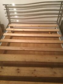 Metal Frame Double Bed with mattress very good condition