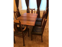 Arts & Crafts Antique Dining Table and Chairs