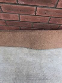 Used light brown (biscuit) carpet and underlay