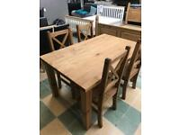 Solid wood table with 4 chairs New