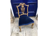Giltwood Low Side Chair- Good quality and condition Feel free to view ....