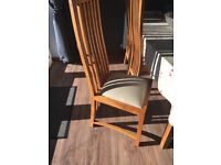 Wooden dining table and 6 chairs. Cheap for quick sale.