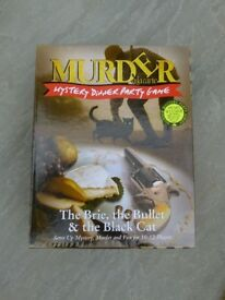THE BRIE THE BULLET AND THE BLACK CAT MURDER MYSTERY DINNER PARTY GAME
