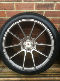 """18"""" Stuttgart Staggered Bronze Alloys wheels and tyres"""