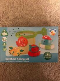 Brand new ELC bathtime fishing, Mega blocks & pull toy. Separate priced.