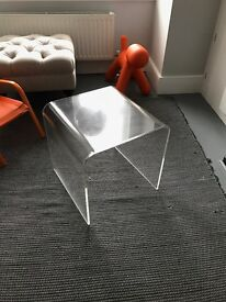 Clear Perspex side table