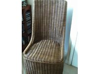 A Vintage Basket Chair in good condition