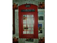 London red telephone box metal wall art