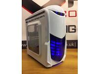 NEW Fast Quad Core Gaming PC 8GB RAM 128GB SSD Win10 Pro Office WiFi LED GAMING PC FREE DELIVERY