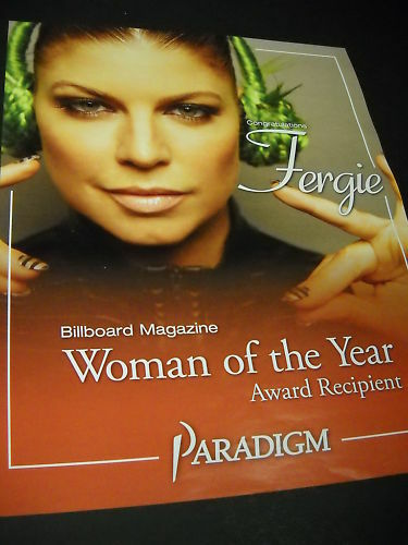 FERGIE is Woman Of The Year PROMO POSTER AD green hair