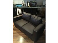Brown Leather Sofa (Matching armchair available also)