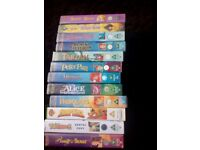 12 disney classics+ 8 kids dvds including 2 x harry potter and 2 disney clasics.