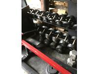 5-30kg Dumbbell Set + New 2-Tier Commercial Rack
