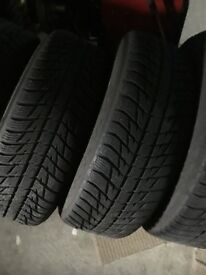 Audi Q5 alloy wheels and winter tyres like new