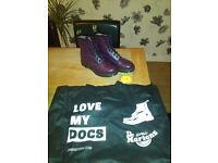 Size 9 - Dr Martens Boots - Purple