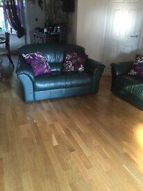 2 beautiful leather sofas