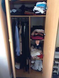 Spacious wooden wardrobe cheap