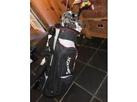 24 Golf Clubs, nearly 2 sets and bag