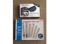 NEW Pen Set & Manicure Set