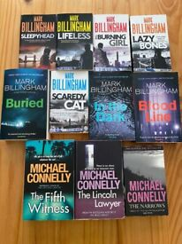 11 Michael Connelly and Mark Billingham Books