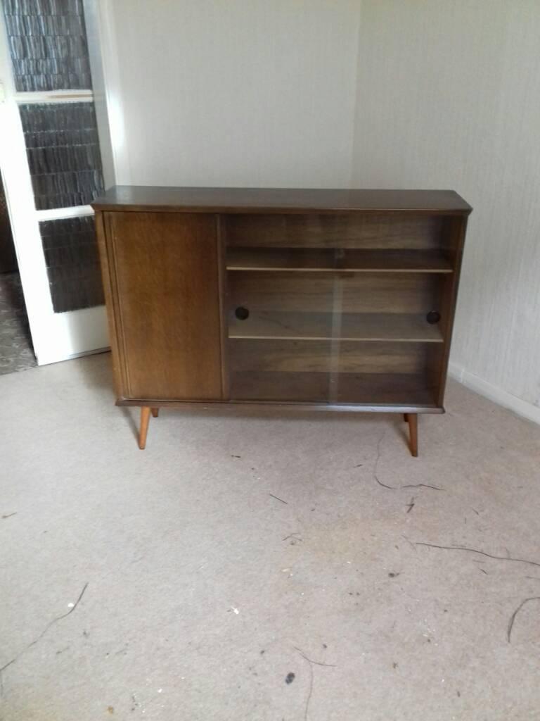 1960s narrow Bookcase/China Cabinet.