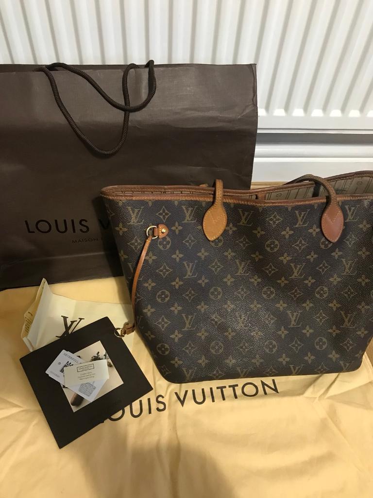 fe648c465393 Used Authentic Louis Vuitton Neverfull MM Monogram Canvas