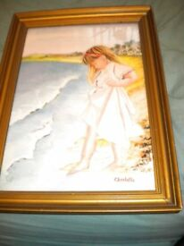 A BEAUTIFUL WATER COLOUR OF A YOUNG GIRL CHARLOTTE BY SIDNEY F LANG