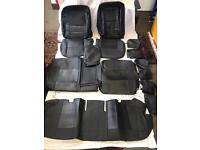PVC Leather Seat Covers , Protectors For TOYOTA PRIUS XW20 XW30 2005 to 2015 in black