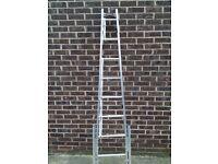 Aluminium Window Cleaner Ladders (7ft) telescopic legs & octopus feet