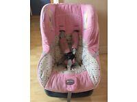 Britax Child's car seat pink