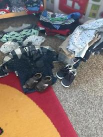 Boys clothes all diff sizes up to 6/9 months