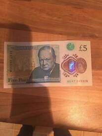 £5 Note AK47 as new